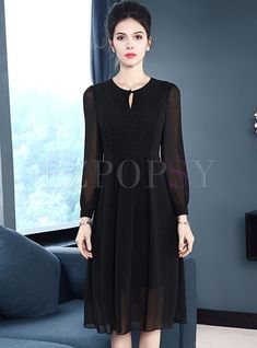 Black Brief Chiffon Splicing Skater Dress Indian Gowns Dresses, Pakistani Dresses, Ladies Dresses, Frock Fashion, Fashion Dresses, Casual Formal Dresses, Floral Maxi Dress, Ladies Dress Design, Dress Outfits