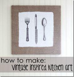 The Graphics Fairy - DIY Kitchen Art