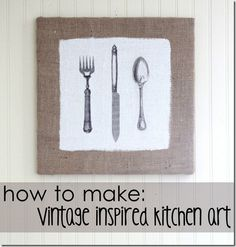 DIY kitchen art