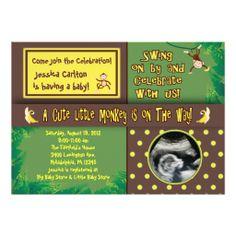 Little Monkey Baby Shower Invitation