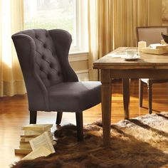 Arhaus  Greyson Grey Dining Chair