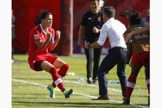 After getting hosed so horribly at the London Olympics, it was nice to see Canada get that penalty call against China on Saturday at the Women's World Cup. Christine Sinclair scored, and Canada won its opener, 1-0.