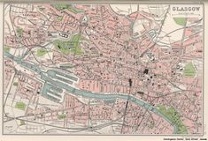old Glasgow map