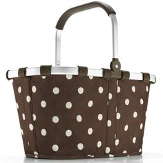 Ruby Red Polka Dot Reisenthel Carry Bag Market Basket by Reisenthel Red And White Kitchen, Red Kitchen, Kitchen Dining, Red Basket, Market Baskets, Shades Of Red, Ruby Red, My Favorite Color, Online Shopping