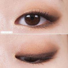Maskenbildner Tattoo - Makeup Tutorial Over 40 Korean Makeup Look, Korean Makeup Tips, Asian Eye Makeup, Korean Makeup Tutorials, Cat Eye Makeup, Eye Makeup Tips, Makeup Inspo, Devil Makeup, 80s Makeup