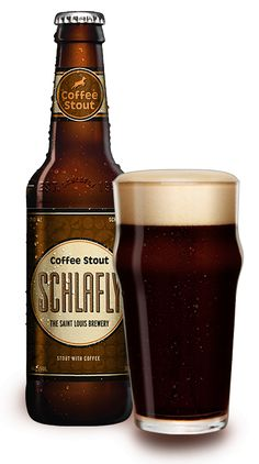 Coffee Stout by Schlafly Beer, classic combination of a traditional stout and premium French roast coffee from St. Louis roaster, Kaldi's Coffee. ABV: Available November–March. Schlafly Beer, St Louis Breweries, Dark Beer, How To Make Beer, Wine And Beer, Best Beer, Beer Lovers, Home Brewing, Craft Beer
