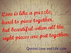 love quotes love is like a puzzle