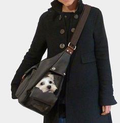 Designer Dog Sling Carrier, Dog Purse Carrier, Dog Bag Carrier by MICRO POOCH™ ドッグキャリー, сумка для собак.