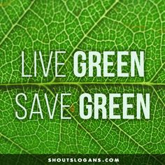 9 Best Go Green Slogans Images On Pinterest Earth Go Green And