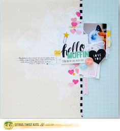#papercraft #scrapbook #layout by Suse Fish