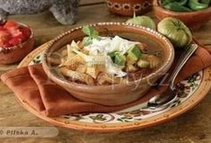 Mexická polévka - Sopa de Tortilla