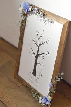 ウエディングツリー:かわいい切り絵風でガーリーテイストなウェディングツリー/シュエット Wedding Tree Guest Book, Guest Book Tree, Tree Wedding, Wedding Ideas, Unity, Bouquet, Frame, Projects, Child