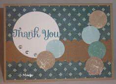 Margo's kaartjes en scraps: Thank you met restjes
