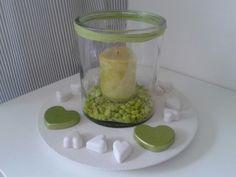 beton und glas windlicht  mit weissbeton von Barbara Kamp