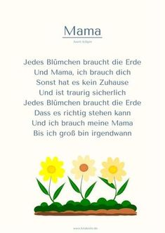 """""""Mama"""" Muttertag Gedicht Kita Kitakiste You are in the right place about Mothers Day Crafts for Kids"""