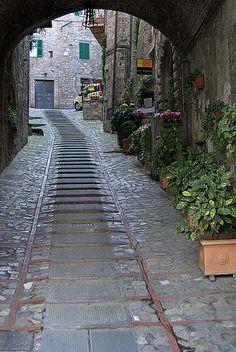 Ancient Alley, Todi, Umbria, Italy