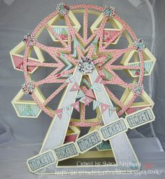 Ferris Wheel by Sharon Nettleship, find out more about Sharon's creations on her blog: http://theothersideofmerevitalised.blogspot.co.uk/