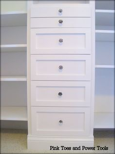 Closet Organizer made with Anna White plans (Furniture Designs Ana White) Closet Organization Diy, Home Organization, Home Projects, Home, Closet Bedroom, Kid Closet, Diy Drawers, Build A Closet, Closet Design