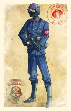 World War II Cobra Soldier by El-Mono-Cromatico