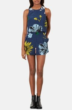 Navy Floral Playsuit by Topshop. Buy for $92 from Nordstrom