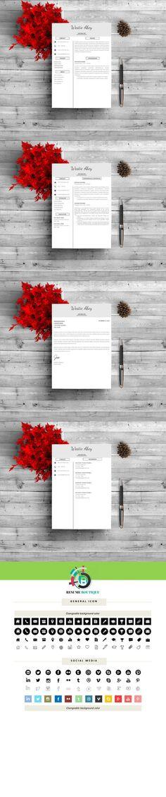 Minimal CV pack Resume Templates Resume Templates Pinterest - resume template website