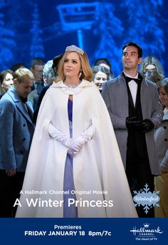 """Reluctant princess Carly (Natalie Hall) steps into the spotlight in """"A Winter Princess,"""" airing January 18 at If it's Saturday, it's Hallmark Channel. Hallmark Channel, Hallmark Weihnachtsfilme, Hallmark Holiday Movies, Family Christmas Movies, Family Movies, Movies Showing, Movies And Tv Shows, Natalie Hall, Winter Princess"""