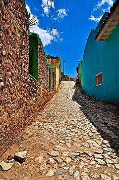 Small street in Trinidad. Cuba.                              …