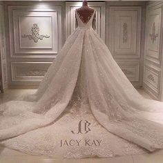 This @jacykayofficial #weddinggown is like something out of a #fairytale :bride_with_veil: