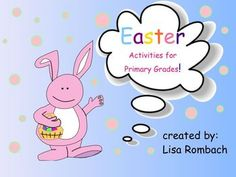 Easter Activities SmartBoard Activities for Primary Grades (.notebook file) Contains a variety of activities both educational and just for fun.  Easter cloze sentence writing / illustration activity pdf included in attachment tab. $