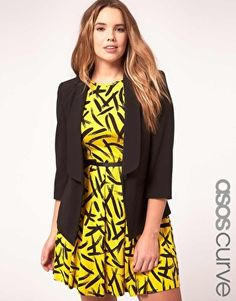 ASOS CURVE Exclusive Shrunken Blazer (and the dress is also so pretty!)