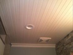 Vinyl Beadboard Ceiling In Bathroom Cm Shaw Studios