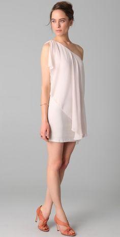 Alice + Olivia One Shoulder Drape Dress thestylecure.com