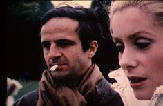 """François Truffaut et Catherine Deneuve sur le tournage de """"Peau d'âne"""" (Jacques Demy) Source: le bonheur se raconte mal"""