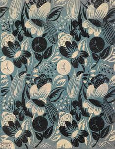 Textile design by Raoul Dufy (French, 1877-1953) for Bianchini-Férier
