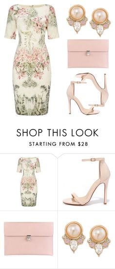 """Untitled #125 (Top Set 3/30/16)"" by ctpyp ❤ liked on Polyvore featuring Adrianna Papell, Liliana, Alexander McQueen and Carolee"