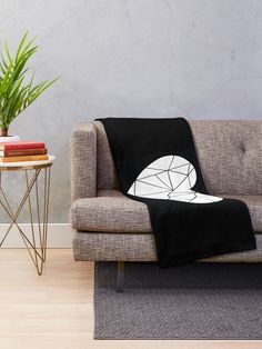 Broken heart [BLACK] Throw Blanket  - Designed by Didi Kasa|  Redbubble Sell Your Art, I Shop, Throw Pillows, Blanket, Heart, Home, Design, Toss Pillows