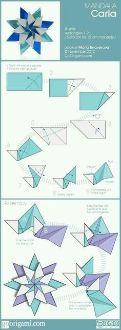 Origami Rosa-dos-ventos