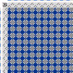 draft image: Figurierte Muster Pl. XXIX Nr. 3 (b), Die färbige Gewebemusterung, Franz Donat, 8S, 8T