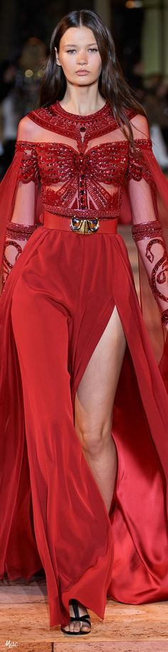Replace the see through with black Red Fashion, Fashion 2020, Spring Fashion, Fashion Outfits, Fashion Trends, Zuhair Murad, Dress Vestidos, Spring Couture, Fashion Photography Inspiration
