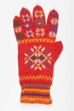 Eesti muuseumide veebivärav - roostud kinnas; Estonian traditional knitted glove