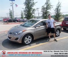 "https://flic.kr/p/sQwRNY | #HappyAnniversary to Nathan Ames on your 2013 #Hyundai #Elantra from Jones David at Absolute Hyundai! | <a href=""http://www.hyundaiofdallas.com/?utm_source=FlickR&utm_medium=DMaxx&utm_campaign=DeliveryMaxx"" rel=""nofollow"">www.hyundaiofdallas.com/?utm_source=FlickR&utm_medium...</a>"