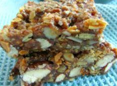 5 minute nut & seed bars Sally Ann, Mashed Potatoes, Seeds, Ethnic Recipes, Food, Whipped Potatoes, Essen, Grains, Yemek