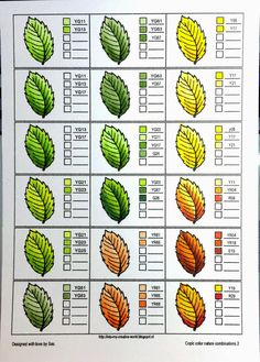 Coloring nature with Copics - leaves - Crafting For Holidays