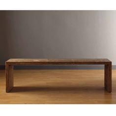 Contemporary Weathered Grey Reclaimed Wood Look Finish 60 Inch Living Room Bench