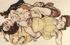 Egon Schiele  Nude portrait
