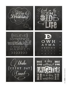 Download these free chalkboard quotes created for the Sept/Oct 2013 issue of Creating Keepsakes magazine. http://www.creatingkeepsakes.com/articles/Download_this_Free_Sheet_of_Chalkboard_Quotes?bc=c