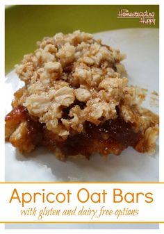 Apricot Oat Bars | The Homesteading Hippy