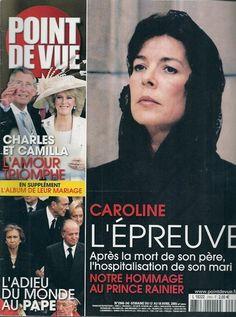 POINT DE VUE N° 2960--CAROLINE DE MONACO LE DEUIL / 2005