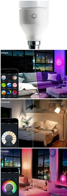 Amazon best selling, LIFX (B22) Wi-Fi Smart LED Light Bulb. Take complete control of your lighting. The free LIFX app is available on Android and iOS. With a few taps on your tablet, phone or watch, colours go from bright and vibrant to pure whites in seconds .