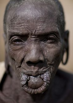 lip+plates | Old Surma woman without lip plate - Omo valley Ethiopia | Flickr ...